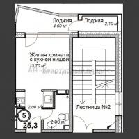 1 комнатная квартира-студия - 8